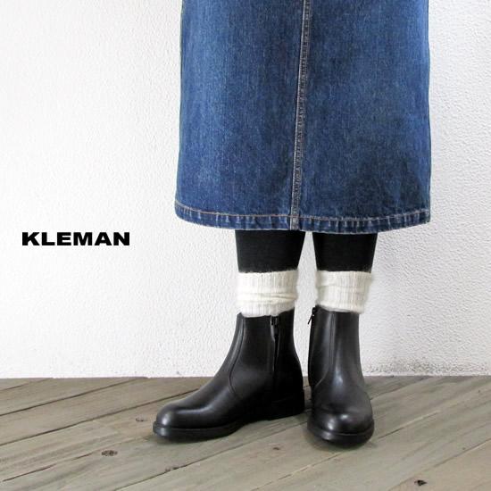 KLEMAN クレマン ONAGRE レザー ジップアップ ショートブーツ