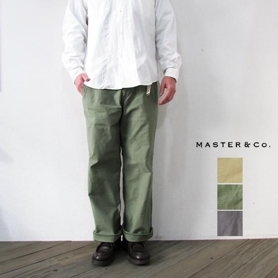 MASTER&Co. マスター&コー メンズ ベルト付きチノパンツ CHINO PANTS WITH BELT mc076