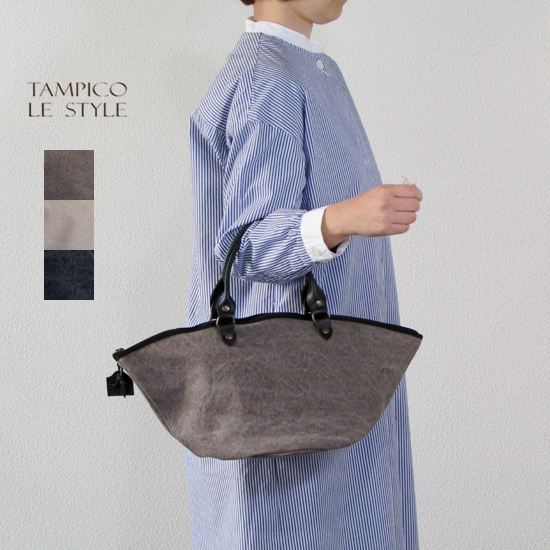 TAMPICO タンピコ コットンストーンウォッシュ ジップ付き トートバッグ ZANZIBAR XS bag ZIP cotton stone wash