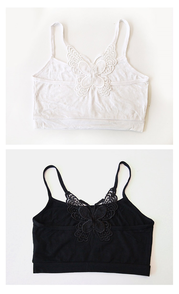 3c82ff29bee28 D030 lace bra top summer half-tube top back Butterfly design ♪ new natural  fit ☆ ladies
