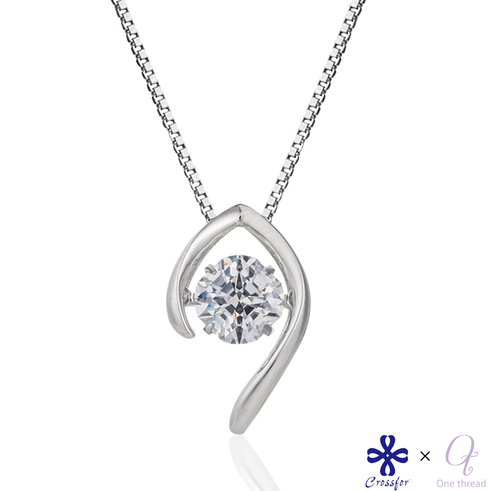 Silver Necklace with Angel Wings Three Wearing Ways CZ Stones Pendant