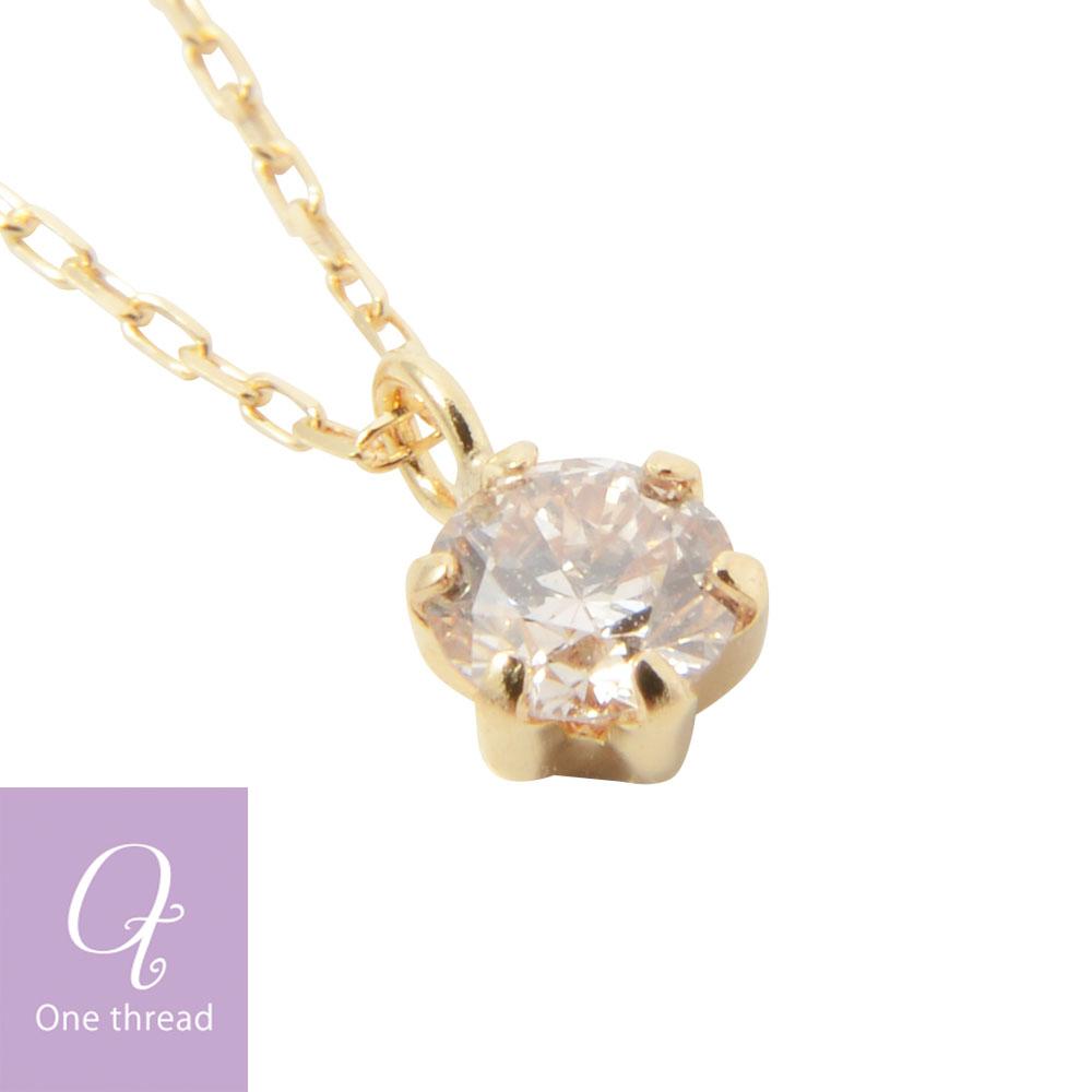 One thread rakuten global market diamond necklace one 01ct 18 one thread 18 01ct k18 mozeypictures Gallery