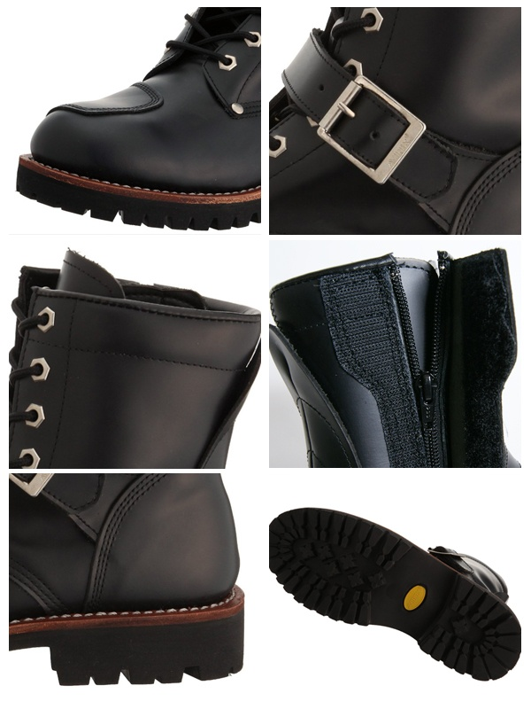 Leather care products giveaway! YAMATO エンジニアサイドジップ leather boots (AV2100) men's boots shoes AVIREX avirex boots Engineer Boots military shipping included leather サンタリート * this item will be shipped within 1 week.