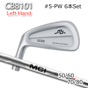 三浦技研(アイアン6本セット#5-PW)CB8101 レフティーアイアン+MCI 50/60/70/80(フジクラ)キャビティアイアン ミウラクラフトマンワールド ヘッドカスタム注文可能 Miura Golf