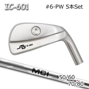 三浦技研(アイアン5本セット#6-PW)IC-601 中空アイアン + MCI 50/60/70/80(フジクラ)キャビティアイアン ミウラクラフトマンワールド Miura Golf