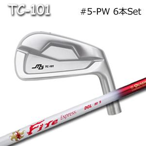 三浦技研(アイアン6本セット#5-PW)TC-101 + FireExpressDGL(ファイヤーエクスプレス)(コンポジットテクノ)キャビティアイアン ミウラクラフトマンワールド ヘッドカスタム注文可能 Miura Golf