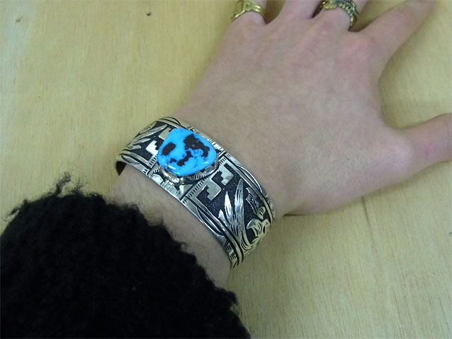 It Is Artist Rosita Singer Product Overlay Technique Eagle Turquoise Indian Jewelry Bangle 925 Sterling Silver Silver Handmade Product Animal