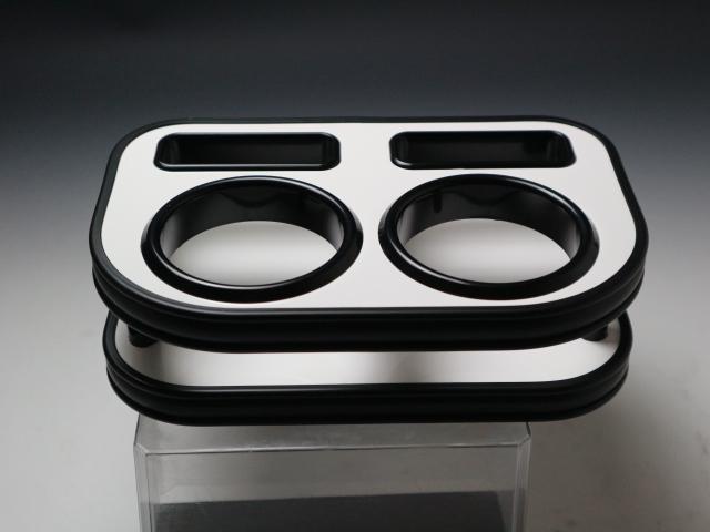 【売り切り! お買い得】L375/385タント(07/12~) フロントカップホルダー ホワイト オールブラック