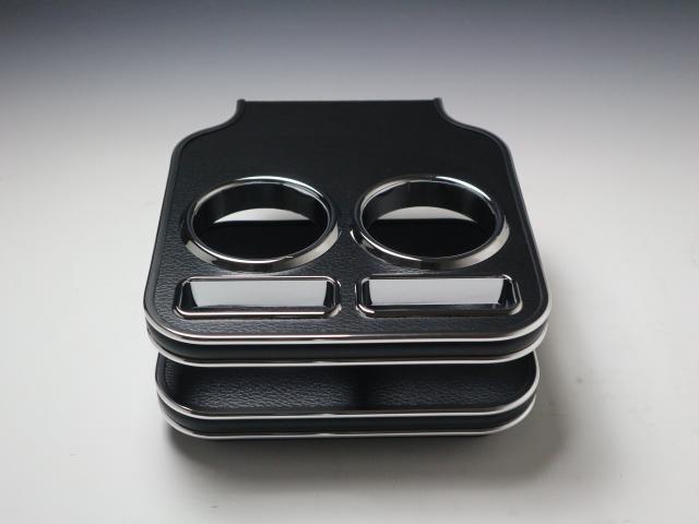 対応型式: DBA-B21A 定番スタイル 売り切り お買い得 レザーブラック デイズルークス 受注生産品 カップホルダー BKxシルバー