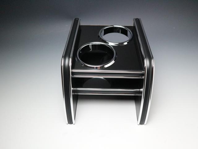 【売り切り! お買い得】GJ系アテンザワゴン(12/11~)リアカップホルダー ブラック BKxシルバー (カップ2仕様)