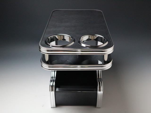 【売り切り! お買い得】デリカD:5(07/01~)セカンドセンターテーブル ブラックウッド BKxフルメッキ