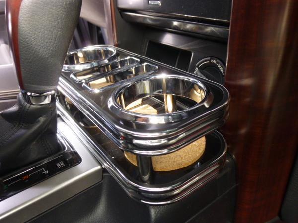 高価値 対応型式: 09 9~ JRJ150W GRJ150W TRJ150W 売り切り フロントカップホルダー ブラック プラド 150系ランドクルーザー 限定モデル お買い得 BKxフルメッキ