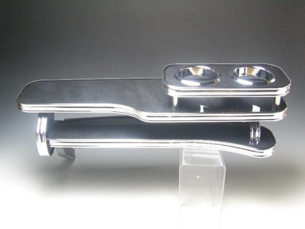 【売り切り! お買い得】Y50フーガ (04/10~) フロントテーブル ブラックウッド BKxフルメッキ