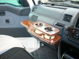 【数量限定】携帯ホルダー付 22色から選べる ハイゼットトラックS200(04/12~)フロントテーブル