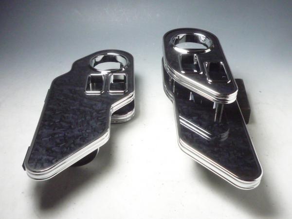 対応型式:E51系 前後期共通 売り切り お買い得 E51エルグランド ブラックウッド 至高 助手席側セット 運転席側 サイドテーブル ショッピング BKxフルメッキ