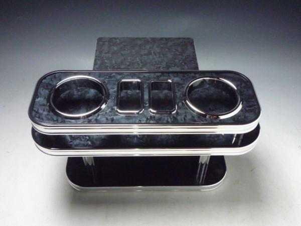 対応型式: 200系 売り切り おしゃれ お買い得 迅速な対応で商品をお届け致します BKxフルメッキ ブラックウッド リアテーブル 200系ハイエース
