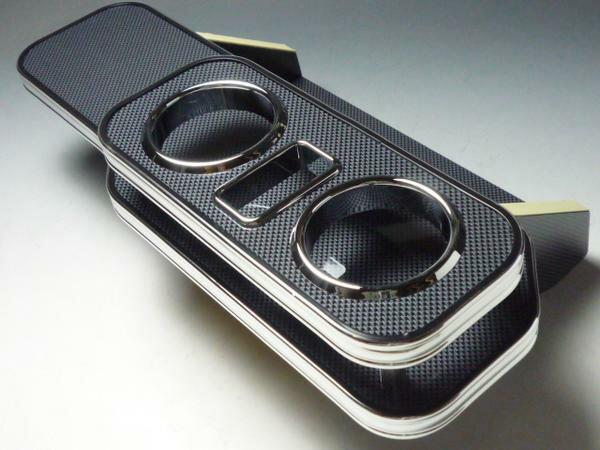 期間限定特別価格 対応型式: JB23後期 売り切り お買い得 JB23ジムニー後期 フロントテーブル ブラックカーボン 新品 送料無料 携帯中央 BKxフルメッキ