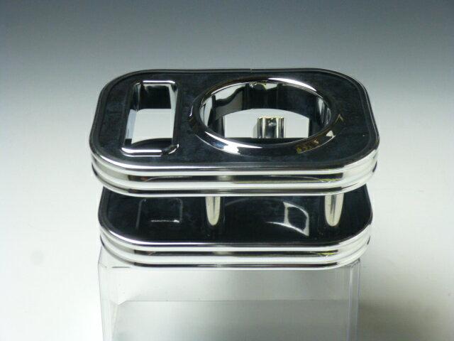 対応型式:N-ONE JG1 JG2 売り切り 大規模セール お気に入 お買い得 ブラックウッド BKxフルメッキ フロントカップホルダー上部 N-ONE