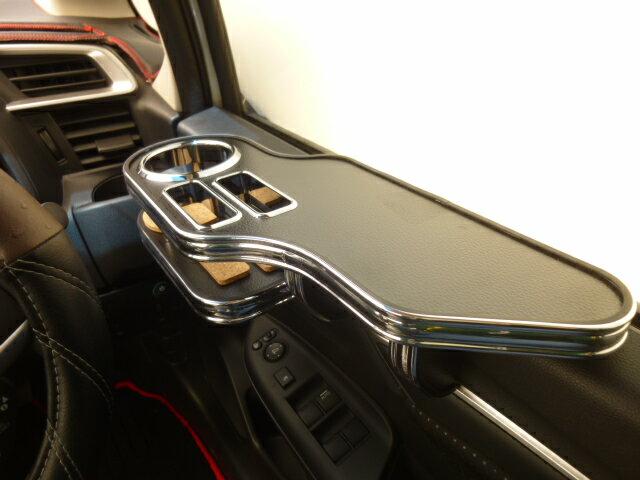対応型式: DAA-GP5 GP6 DBA-GK3 GK4 DBA-GK5 GK6 贈答品 驚きの値段で 売り切り レザーブラック サイドテーブル運転席側 GP系フィット BKxフルメッキ お買い得