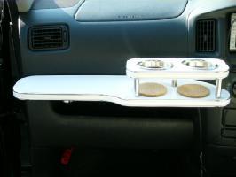 【数量限定】携帯ホルダー付 22色から選べる サクシードワゴン(02/7~)フロントテーブル