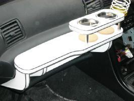 【数量限定】携帯ホルダー付 22色から選べる R32スカイライン(89/5~)フロントテーブル