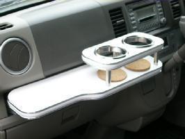 【数量限定】携帯ホルダー付 22色から選べる エブリィバン(05/8~)フロントテーブル