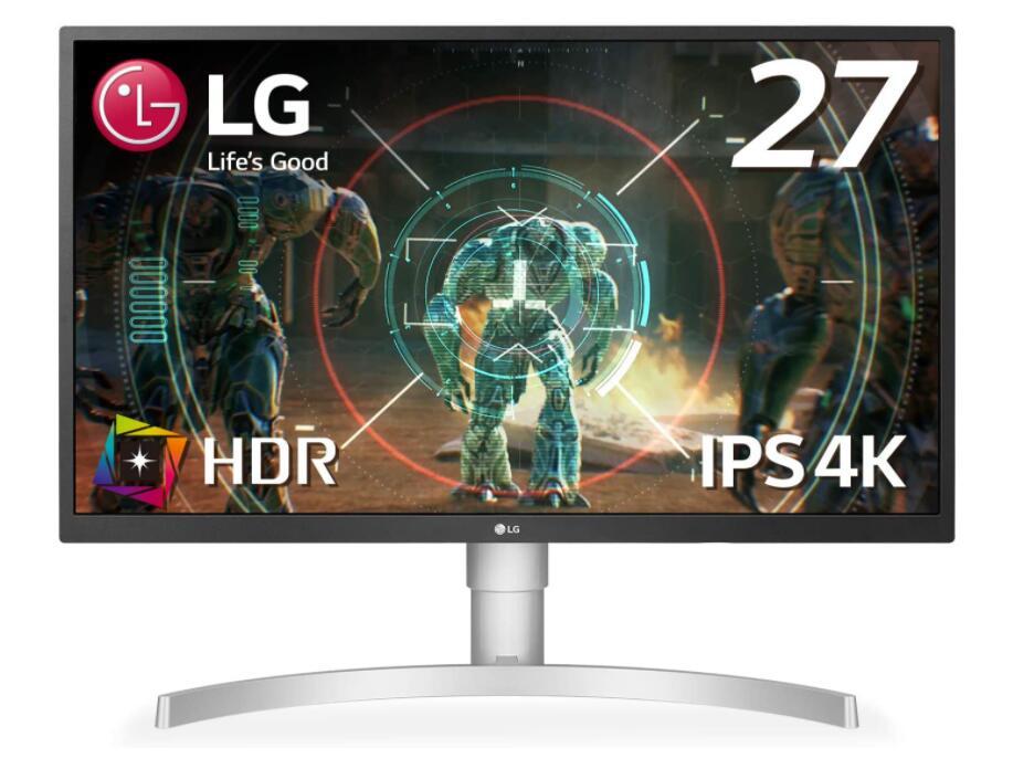 27インチ/4K/HDR(標準輝度:300cd/m2)/IPS非光沢/HDMI×2、DisplayPort/FreeSync/ブルーライト低減 ディスプレイ LG ゲーミング 27UL500-W モニター