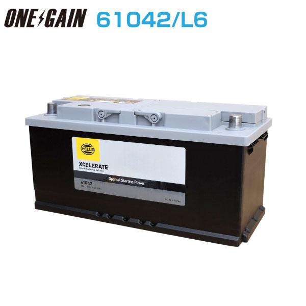 G&Yu バッテリー 輸入車用バッテリー欧州車シリーズ 61042 L6 110Ah 20時間率容量 バッテリー スターティングバッテリー
