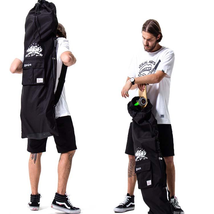 long board bag ロングスケードボード バッグ ケース スラッシャー ボードケース おしゃれ かっこいい 大きいサイズ 持ち運び 防水 ショルダーバッグ スケーボー ナイロン 数量限定 厚手 スケボー 新色 スケボーケース 黒 ブランド