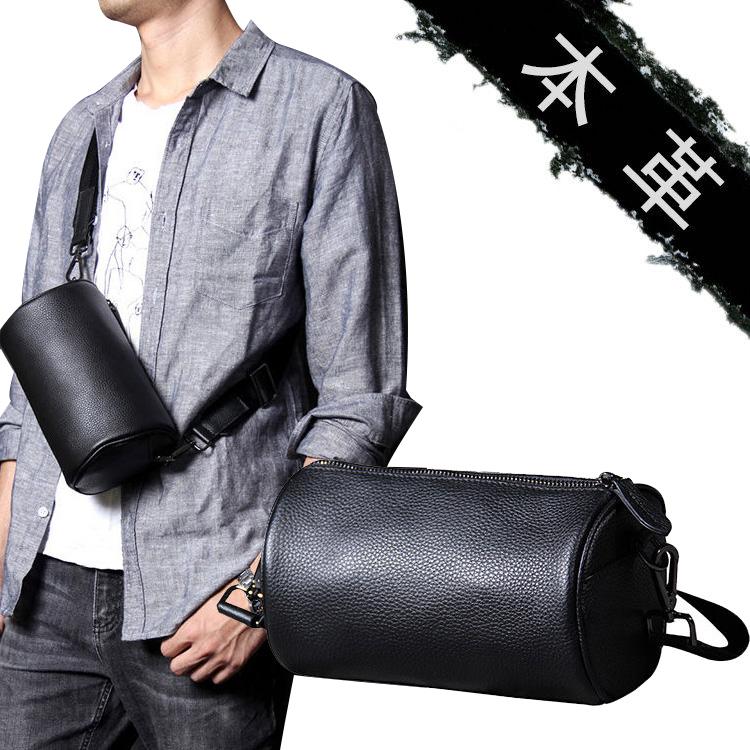 ボディバッグ メンズ 本革 レザー ブラック 黒