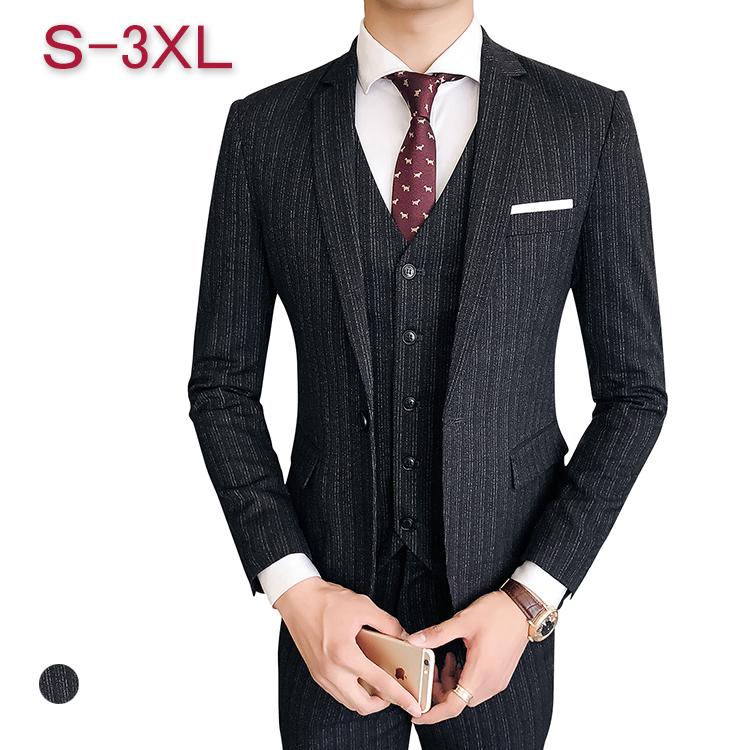 スリーピーススーツ メンズ 3ピース スーツ メンズ セットアップスーツ メンズ ベスト付き 上下セットスーツ ボーダー柄 ボーダー 細身 スタイリッシュ スーツジャケット スラックス スーツジレ カジュアルスーツ 就活スーツ 面接