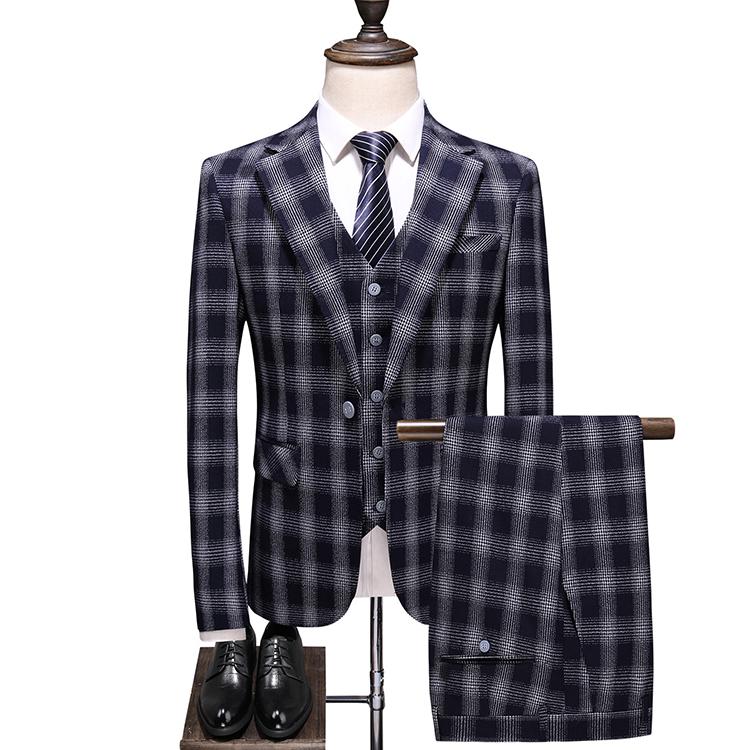 成人式 スリーピーススーツ メンズ 紳士服 秋物 秋冬 まとめ買い特価 チェック柄 スーツ 送料無料でお届けします スリーピース ダブルスーツ 灰色 男の子 チェック 男性 大きいサイズ 3ピース 入学式 ベスト付き グレー