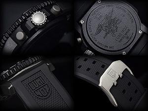 Luminox men's Chronograph Watch black orange rubber 3089