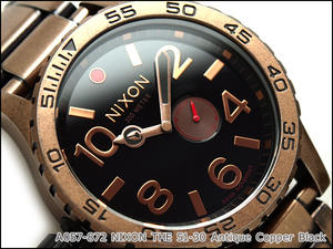 Nixon Mens Watches THE 51-30 antique copper black A057-872