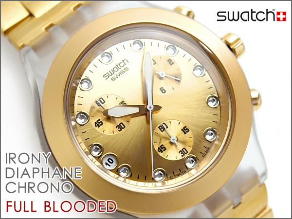 Swatch讽刺计时仪手表FULL BLOODEDフルブラッディッドSVCK4032G