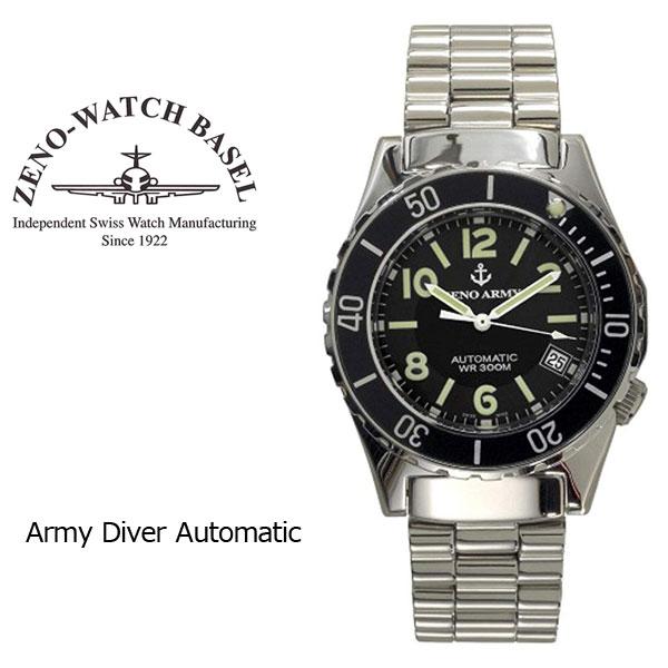 【ZENO WATCH】ゼノウォッチ ダイバーズ Army Diver Automatic 自動巻き メンズ 腕時計 ブラック 485N-A1M