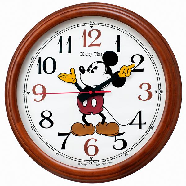【SEIKO CLOCK】 セイコークロック ミッキー&フレンズ 電波時計 掛け時計 アナログ FW582B