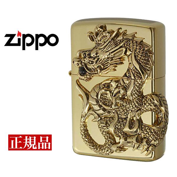 【ZIPPO】 ジッポー オイルライター Dragon Metal ドラゴンメタル 1000個限定 天然オニキス ゴールド シリアルナンバー入り M-DRAGONMETAL-G