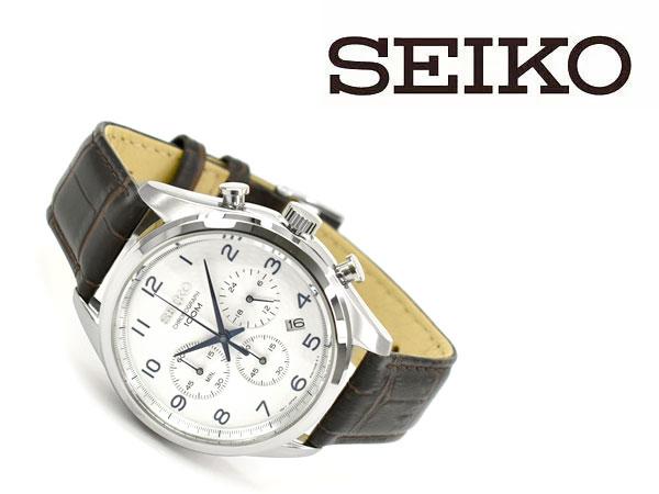 セイコー SEIKO クロノ クオーツ メンズ 腕時計 SSB229P1 シルバー
