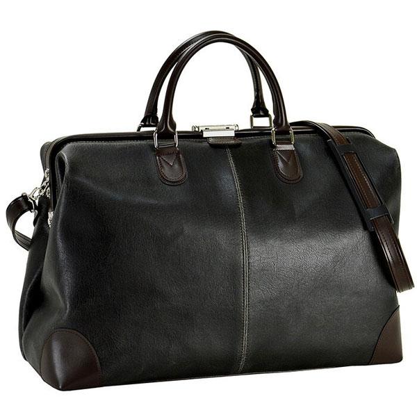 【ANDY HAWARD】アンディーハワード メンズ ボストンバッグ 日本製 豊岡製鞄 白化合皮 ブラック 10422-1