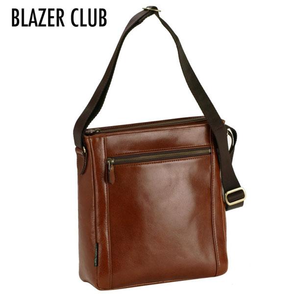【BLAZER CLUB】 ブレザークラブ 豊岡製鞄 日本製 メンズ ショルダーバッグ ブラウン 16296-4