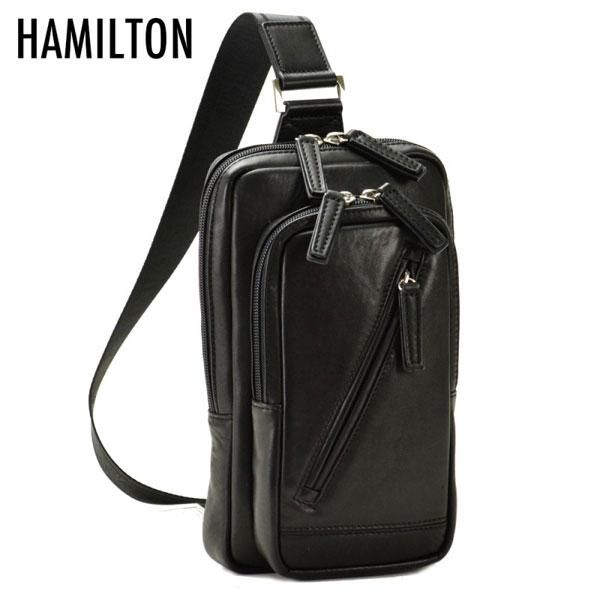 【HAMILTON】 ハミルトン メンズ ショルダーバッグ ブラック 16375-1