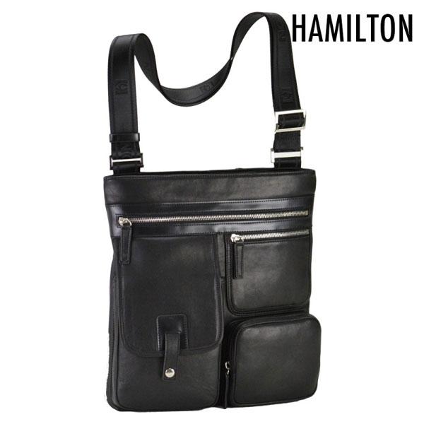 【HAMILTON】 ハミルトン ショルダーバッグ 豊岡製鞄 日本製 メンズ ブラック 16380-1