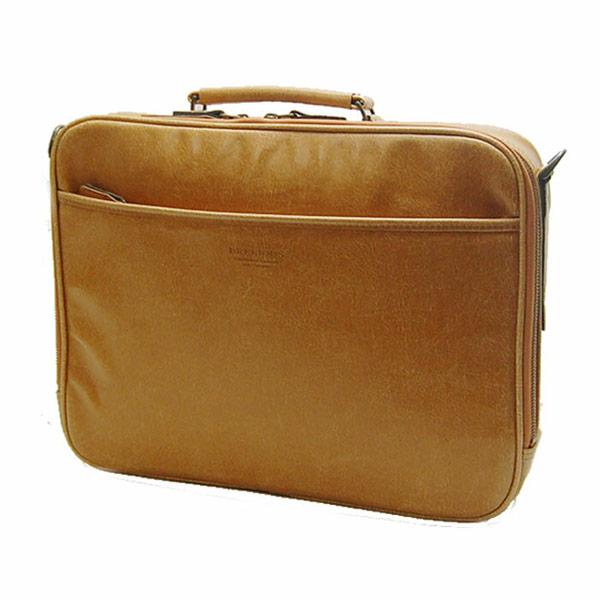 【BRELIOUS】 ブレリアス ビジネスバッグ メンズ 豊岡製鞄 日本製 白化合皮 キャメル 21221-10