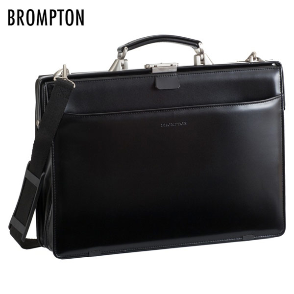 【BROMPTON】 ブロンプトン ビジネスバッグ メンズ 豊岡製鞄 日本製 軽量合皮 ブラック 22171-1