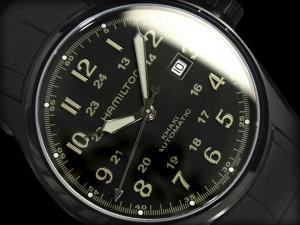 Hamilton khaki men self-winding watch + rolling by hand type watch oar black rubber belt H70685333