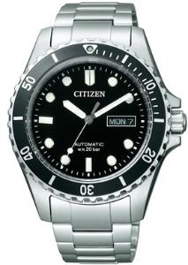公民集合男装自动自动上弦手表潜水员看黑色 NY6021-51E