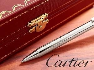 卡地亚球点笔线 & 标志卡地亚装饰圆珠笔线 & 标志卡地亚银 ST150198
