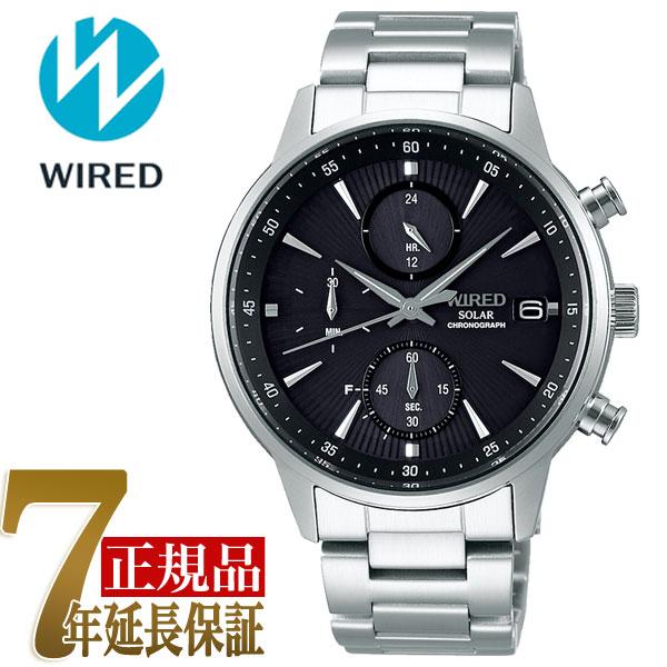 セイコー ワイアード SEIKO WIRED クロノグラフ ソーラー ユニセックス 腕時計 AGAD408