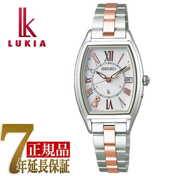 「刻印無料キャンペーン実施中」セイコー ルキア SEIKO LUKIA チタン ソーラー 電波 レディース 腕時計 綾瀬はるか ホワイト SSQW051